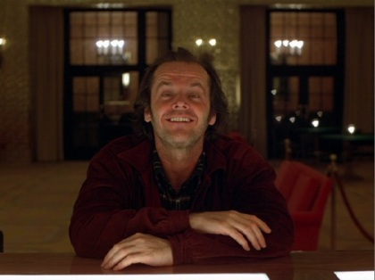 Jack Nicholson in Shining, Stanley Kubrick, 1980