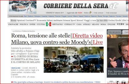 La diretta di Corriere.it sulla manifestazione studentesca